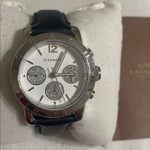 Authentic Coach leather watch